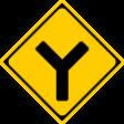 (201-D)Y形道路交差点あり