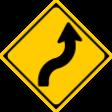 (204)右(または左)背向屈曲あり