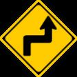 (205)右(または左)背向屈折あり