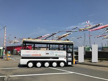 自動運転バスが会場間をつなぐ 電気自動運転バス「eCOM-10」_アークノハラ3