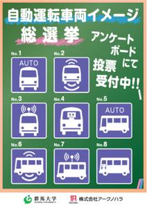 アークノハラの自動運転車両を表すピクト例