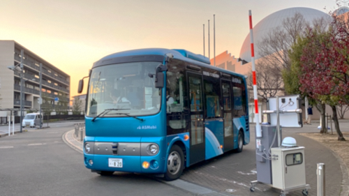 「自動運転バスのみ通行可能なICTゲート」を公道で初実証 住民の約75%が有効と評価